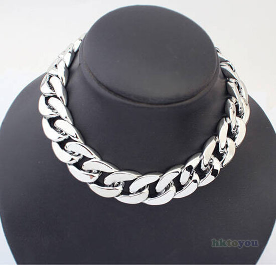 Women Jewelry necklace all-match thick Choker Chunky Shiny chain