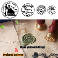 Personalized patterns brand logo custom wax stamp wedding and work