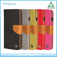Durable PU Wallet Leather Case For iPhone 6S/6S Plus, Cover Back Stander Case For iPhone 6S