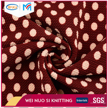 Golden supplier soft cotton dot print terry cloth fabric for casual wear