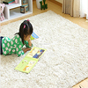 Green shock absorber microfiber polyester rug kitchen design