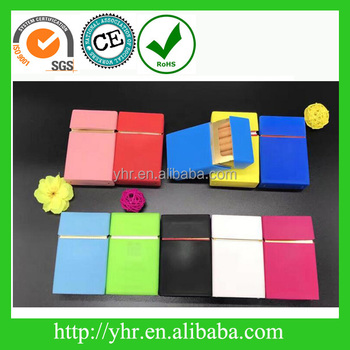 silicone cigarette pack cover box with printing