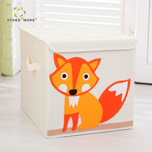 Store More 2018 Hot Selling Eco-Friendly And Cube Cotton Fabric, Storage Bin, Baby Kids Toy Foldable Small Storage Box