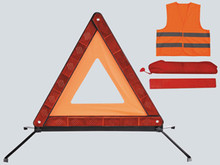 Car Emergency Kits with hi-vis vests and warning sign