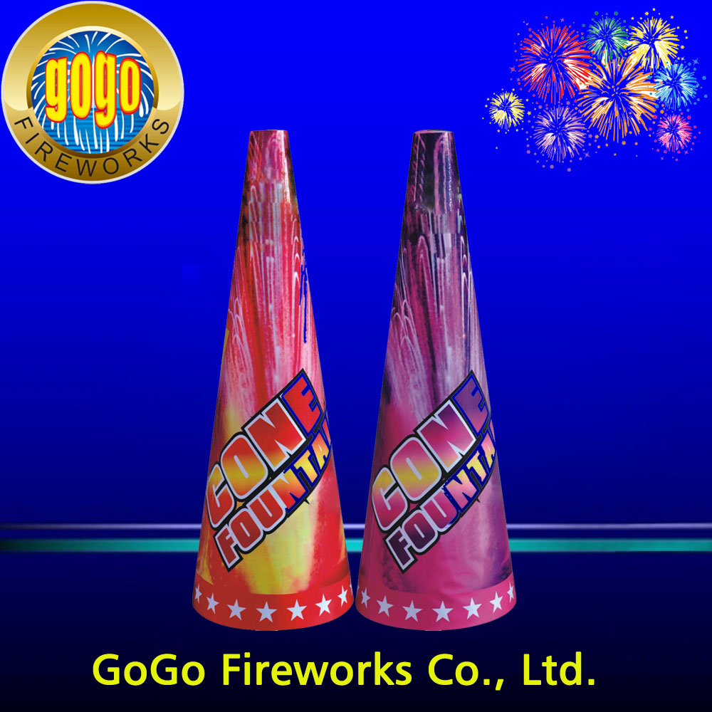 High quality 13 inch conic fountain fireworks packing 9/2 stage and wedding fountain fireworks order in our factory can discount