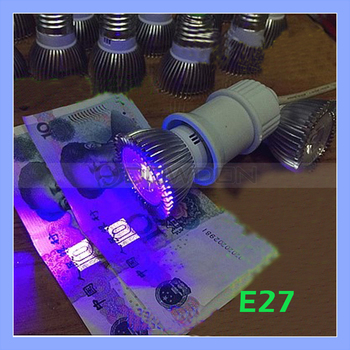 85-265V E27 3W LED Spotlight UV Purple LED Bulb Lamp Light