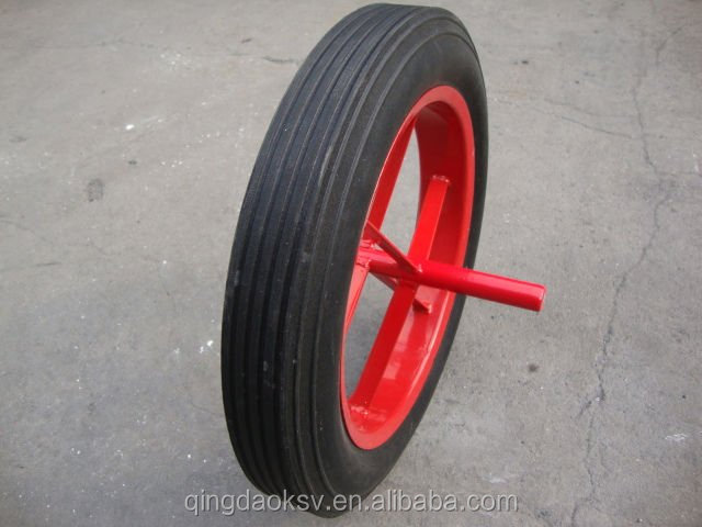 Manufacturer of 13-inch solid <strong>wheel</strong> for wheelbarrow, hand trolley