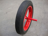Manufacturer of 13-inch solid wheel for wheelbarrow, hand trolley