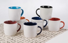 Customized Logo Ceramic Gift Mug With Handle and Inside Color