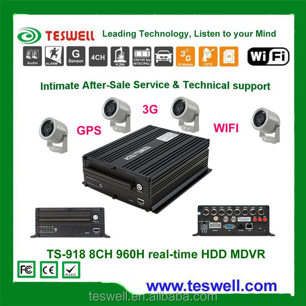 TS-918 8ch 960h real-time recording vehicle fleet dvr systems ,support 2TB hard drive