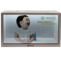 32 inch Transparent LCD Display Showcase, touch screen Transparent cell phone display LCD