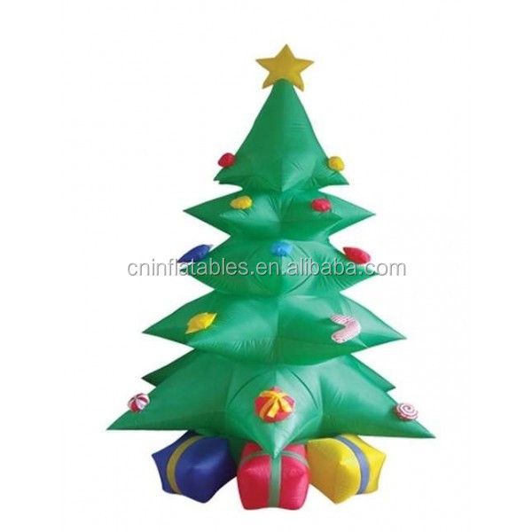 inflatable decoration lighting/8 Foot Green Inflatable Christmas Tree w-Multicolor Gift Boxes