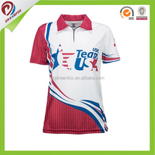 Dri fit women Sport polo t shirt High Quality New Collar with brand logo