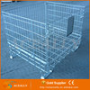 ACEALLY Collapsible Wire Mesh Basket Steel Cage Bins Welded Metal Stillage