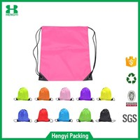 whoelsale cheap full color nylon polyester drawstring bag/shopping bag/210D