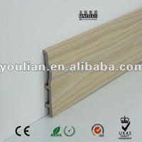 wood plastic skirting wood plastic composite skirting board for wall base