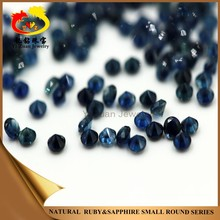 Precious blue round shaped diamond cut natural tanzanite stone