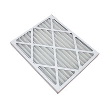 Foldaway pleated furnace pre air filter with paper frame