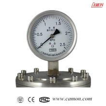 all stainless steel corrosion-proof biogas pressure gauge
