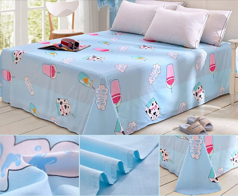 Cotton printed bedsheet for baby use