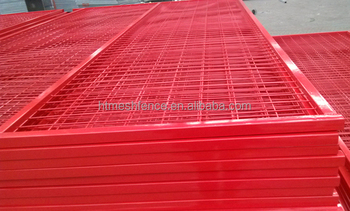 Portable Red Colour 6ftX10ft Temporary Fence Panel