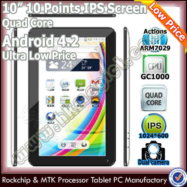 2014 new&best 10 inch quad core harga tablet pc termurah
