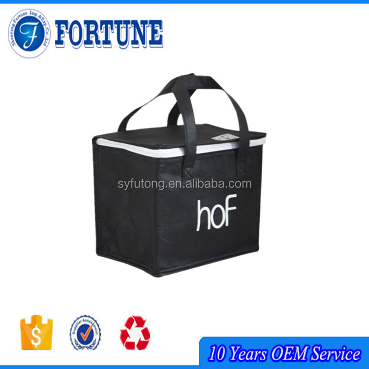 New Zipper Top Handling and Nonwoven Material Cold Storage Bag
