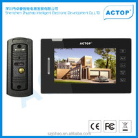 2013 hot sale digital hd wired multi apartments smart video door phone with photo memory