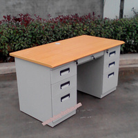 Double Sided Office Desk with Drawers