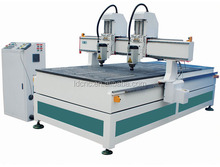 Manufacturer Directly Supply! ! ! 4x8ft wood engraving router cnc three head cnc router with Japan YASKAWA servo