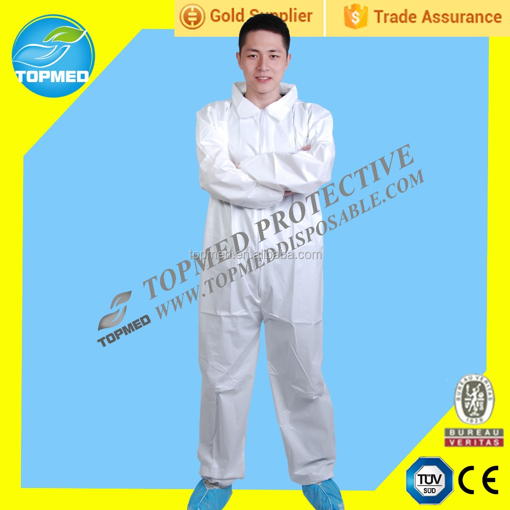 Low price disposable breathable coverall, chemical workears,nonwoven cleanroom suit