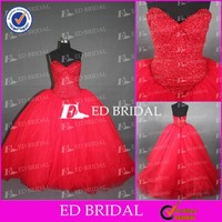 CE784 Sweetheart Backless Sexy Beaded Wedding Gowns Red Wedding Dresses UK