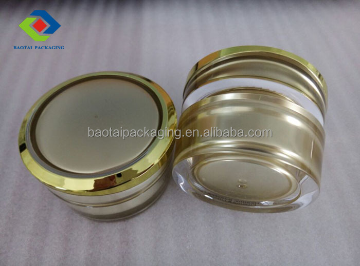 15g golden color eye cream wholesale jars with screw cap by shangyu cosmetic packaging