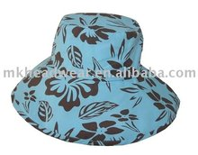 ladies polyester bucket hat with all over printing