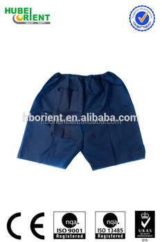 Medical disposableblue white PP nonwoven shorts