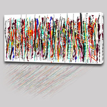 Abstract Style Decor Wall Painting Custom Colourful Line Canvas Print Picture