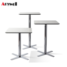 Amywell Adjustable high top club cocktail waterproof phenolic HPL bar tables