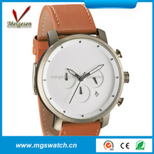 new latest unisex fashion elegant chronograph dial soft band hand watch