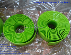 Green Polyurethane/ PU Skirt Board Rubber with Beveled Edge