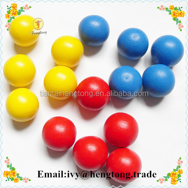 Custom bright candy color round wood balls, painted multi colors wood beads, kids toy balls