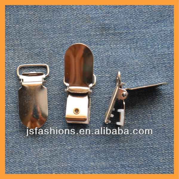 Duckbill metal brace garment clips with different shape and size