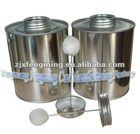 screw lid with brush, lids for pvc metal tin can