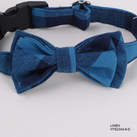 Wholesale 2016 Pet Products Linen decorative dog Collar Bow Ties China Supplier