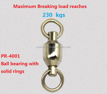 Factory Supply Fishing Swivel Connector Carp Rigs split ring Ball Bearing Swivel with Solid Ring