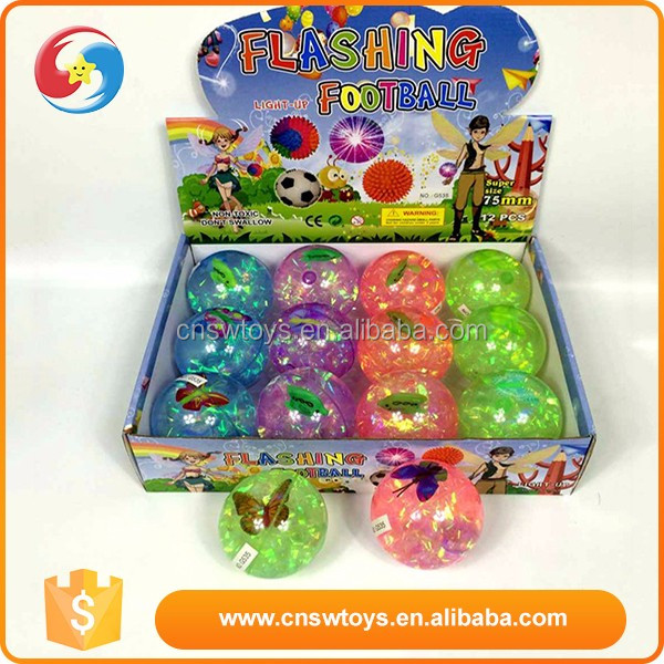 Best selling toy game colourful kids flashing bounce football