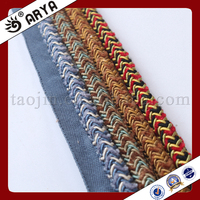 special design woven Decorative Rope for sofa decoration or home decoration accessory,decorative cord,6mm