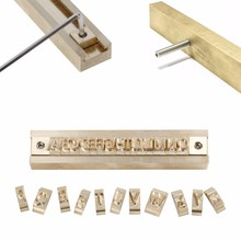 63pcs CNC brass flexible any letter New arrival kit with T-slot metal alphabet stamp