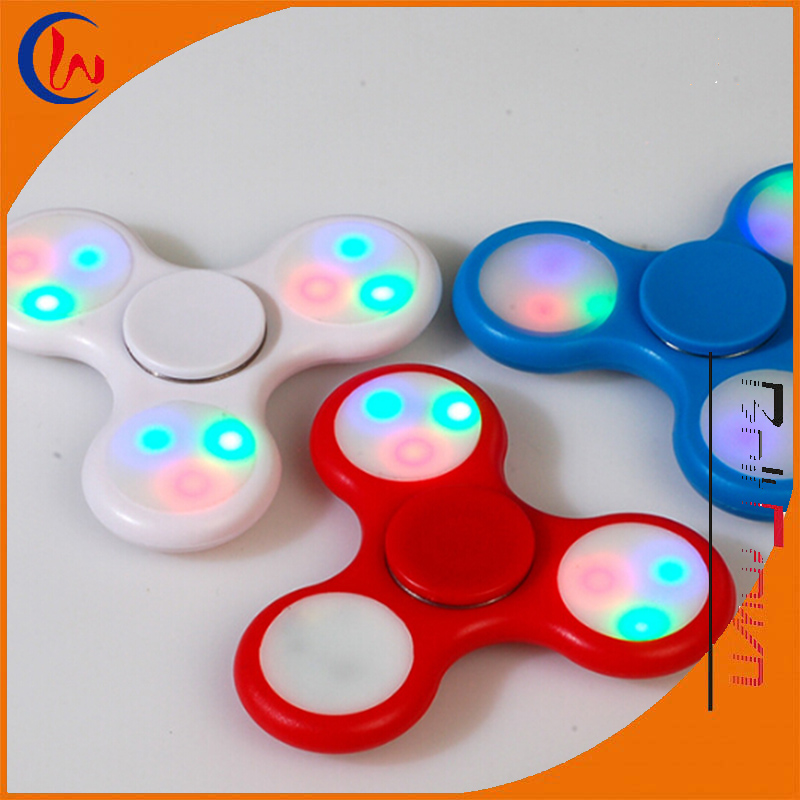 Anti -stress luminous toy tri spinner 608 flash hand led spinner fidget spinner