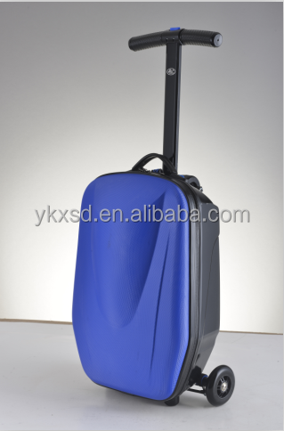 Business 3 wheels travel luggage suitcase scooter