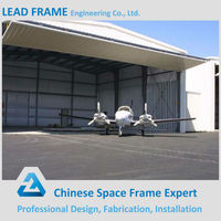 Lightweight steel truss roof for aircraft hangar